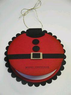 más y más manualidades: Hermosas decoraciones con forma del cinturón de Santa Claus