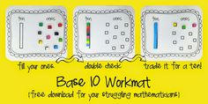 base 10.  place value.  grouping numbers.  free.