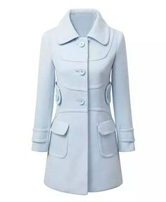 Slim Fit Light Blue Overcoat
