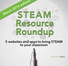Each month, 5 new tools are shared to help make STEAM possible in your classroom. The websites this month cover everything from an online exhibit to a music-making app using digital visualizations. Gotta try this!