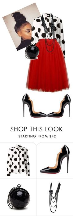 """Morning Manna!!!! #iloveaim"" by cogic-fashion ❤ liked on Polyvore featuring BEA, RED Valentino, Christian Louboutin and Chanel"