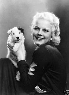 Jean Harlow and puppy