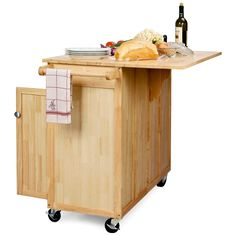 The Vinton Portable Kitchen Island with Optional Stools - Kitchen Islands and Carts at Hayneedle