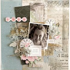 This month I was lucky enough to be guest DT again at Uniquely Creative - Creative Kit Club ! I got to play with the gorgeo. Scrapbook Page Layouts, Scrapbook Pages, Scrapbooking Ideas, Happy Mom Day, Smash Book Pages, Paper Bag Album, Landscape Quilts, Creative Colour, Collaborative Art