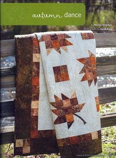 A slightly different leaf block, Autumn Dance as featured in Quilters Connection magazine.
