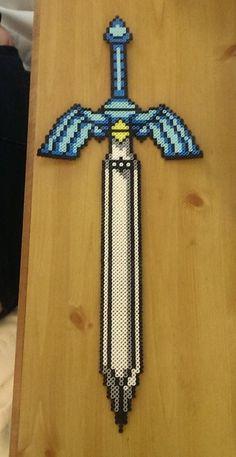 Legend of Zelda - Master sword Perler Beads by kittenlovee on deviantART