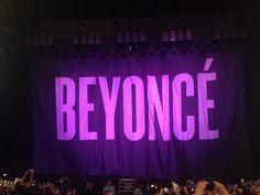 Beyoncé Curtain At The O2 Arena London 01.03.2014