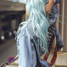 pastel colour hair is perfect