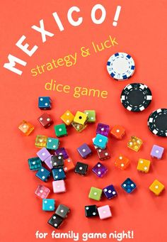 Fun family dice game that requires a combination of strategy and luck to win. Easy to learn and play with only two dice and great for family game night or large groups. game Mexico Dice Game: Strategy & Luck for Families! Printable Board Games, Board Games For Kids, Family Game Night, Family Games, Pen And Paper Games, Fun Math, Math Art, Game Effect, Indoor Activities For Kids