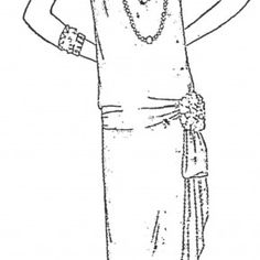 FREE Vintage Flapper Dress Pattern - Style circa 1927
