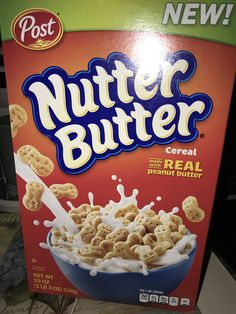 Nutter Butter, Peanut Butter, New Cereal, New Recipes, Snack Recipes, Starbucks Vanilla, Types Of Cereal, Junk Food Snacks, Granola Cereal