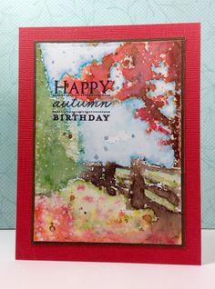 Hidden Lane: Penny Black, watercolor, fall, by beesmom - Cards and Paper Crafts at Splitcoaststampers