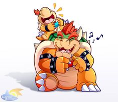 Bowser Jr Has A Really Cool Dad by LucarioOcarina on DeviantArt Super Mario Smash, Mundo Super Mario, Super Mario Art, Super Mario World, Super Smash Bros, Mario Fan Art, Nintendo Tattoo, Nintendo Switch, Pokemon