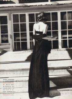 """Belladonna"", Vogue Italia, January 1990 Photographer : Ellen von Unwerth Model : Christy Turlington"