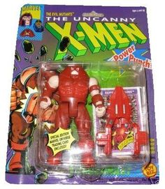 """The Uncanny X-Men Evil Mutant JUGGERNAUT 5"""" Action Figure (1991 ToyBiz) by Toy Biz. $19.94. Made by Toy Biz in 1991 and long out of production.. Juggernaut is part of the X-Men 5 inches tall action figure line.. Juggernaut action figure with Power punch action and Battering Ram!. Comes with special edition Marvel Universe trading card.. Incredibly strong, virtually invulnerable, and with a body almost bursting with evil mutant power, Juggernaut is the ultimate mutant..."""
