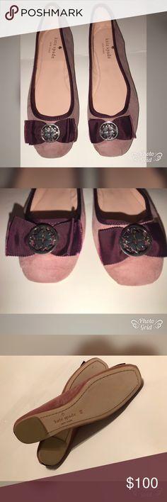 Kate spade ♠️ Fontana Ballet burgundy bow Flats New never been worn Kate Spade ♠️ Fontana Flats size 8  Bottom of flats is scuffed due to shelf wear . No 📦 kate spade Shoes Flats & Loafers