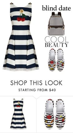 """""""Dress to Impress: Blind Date"""" by shoaleh-nia ❤ liked on Polyvore featuring Dolce&Gabbana, BP. and Henri Bendel"""