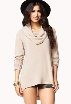 Cowl Neck Tunic Sweater | FOREVER 21 - 2083316015