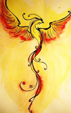 The phoenix tattoo represents renewal, rebirth and the beginning of a new life…