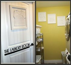 Framed baby clothes! laundry-room