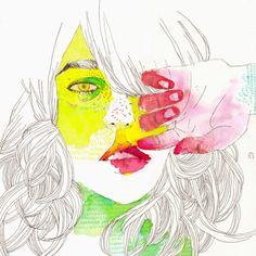 illustration. Portrait.