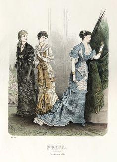 Freja - Illustrerad Skandinavisk Modetidning (Swedish) 1880
