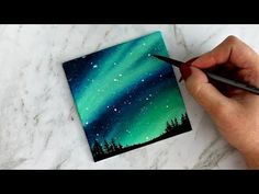 Aurora Sky Canvas Painting | artbybee7 | - YouTube