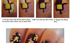 How to paint patchwork on your nails!