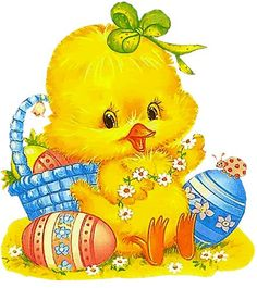 baby chick with eggs: