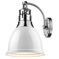 Classic Dome Shade Sconce comes in seafood and chrome blue for kid's bathroom