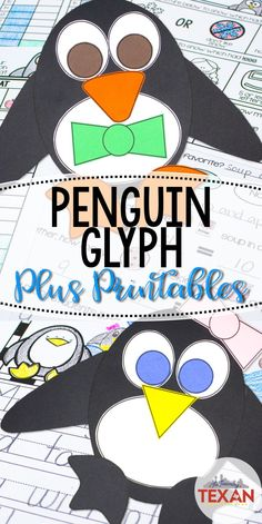 Bring penguins into math during your penguin unit with a glyph that your students are sure to love! Further instruction with the included templates for graphing, writing, and more! This activity is perfect for Kindergarten and First Grade students!