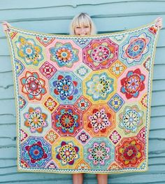Persian Tiles Eastern Jewels Blanket Pack, including, Wool, Pattern and colour chart Crochet Afghans, Crochet Squares Afghan, Crochet Blanket Patterns, Crochet Granny, Crochet Motif, Baby Blanket Crochet, Crochet Stitches, Crochet Baby, Crochet Blankets