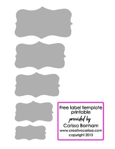 jar label template good for food gifts crafty 2 the core diy