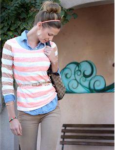stripes | jean shirt