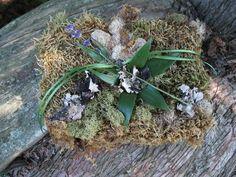 Ringbearer pillow, #mosspillow #VermontWeddingFlowers