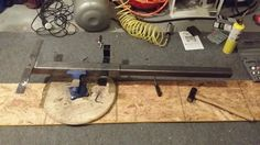 work in progress on generator frame-mounted reese trailer hitch mount.
