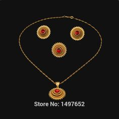 2015Hot Sale Ethiopian 4pcs Wedding Jewelry Sets Gold Color Jewelry Bridal Jewelry for Women Free shipping