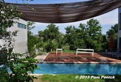 Rebar awning over the pool deck -- very unique. Gardens on Tour 2013: Westridge Drive Garden | Digging
