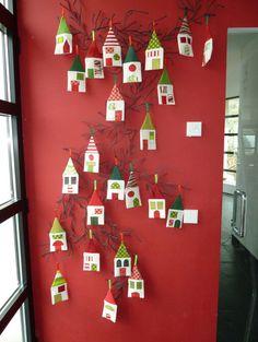 Christmas Decoration Advent Calendar Little Village by Marabara Design modern holiday decorations