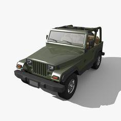 jeep Blender 3D Model