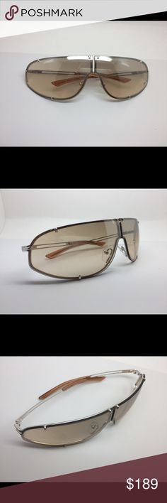 a697302f336 AUTHENTIC PRE-OWENED CHRISTIAN DIOR SUNGLASSES MODEL COSSACK. VINTAGE  WRAPAROUND SHELD STYLE. LENSES HAVE MINOR SCRATCHES FROM WEAR.