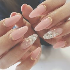 Tag your friends ? in 2019 Perfect Nails, Gorgeous Nails, Love Nails, Pretty Nails, Bride Nails, Wedding Nails, Colorful Nail Designs, Nail Art Designs, Unicorn Nails