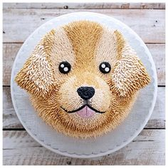 for the golden retriever cake Fancy Cakes, Cute Cakes, Mini Tortillas, Puppy Dog Cakes, Animal Cakes, Puppy Party, Cake Pictures, Occasion Cakes, Tiramisu Cake