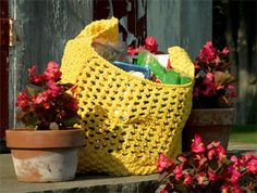 Example of a variation of the 1Bag design, using different stitch patterns