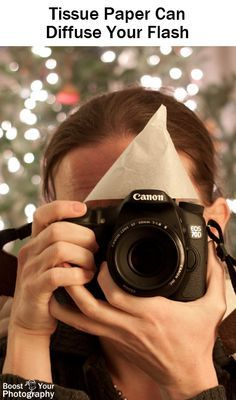 Tips for Mastering On-Camera Flash - tissue paper can diffuse your flash | Boost Your Photography