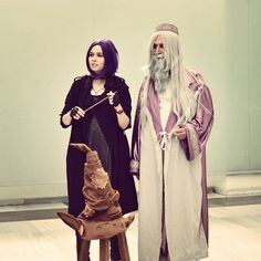 Pin for Later: Creative Costumes For Harry Potter Superfans Nymphadora Tonks and Professor Dumbledore