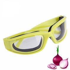 Women Mens Onion Goggles Barbecue Safety Glasses Eyes Protector Face Shields Cooking Glasses is hot sale at NewChic, Buy cool sunglasses now. Cool Sunglasses, Oakley Sunglasses, Friendly Plastic, Mens Gear, Cool Gear, Eye Protection, Cooking Tools, Kitchen Accessories