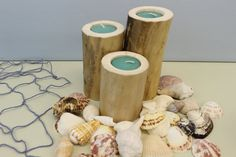 Driftwood Tea Light Candle Holders