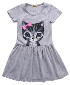 2018 Blue Crew Neck Dress Child Cute Printed Bows Peacock Girls Bubble Peacock Dress Party Clothing Y-new Mother & Kids