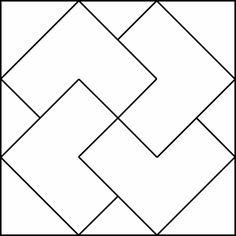 Simple Geometric Designs | Geometric Block Pattern 29